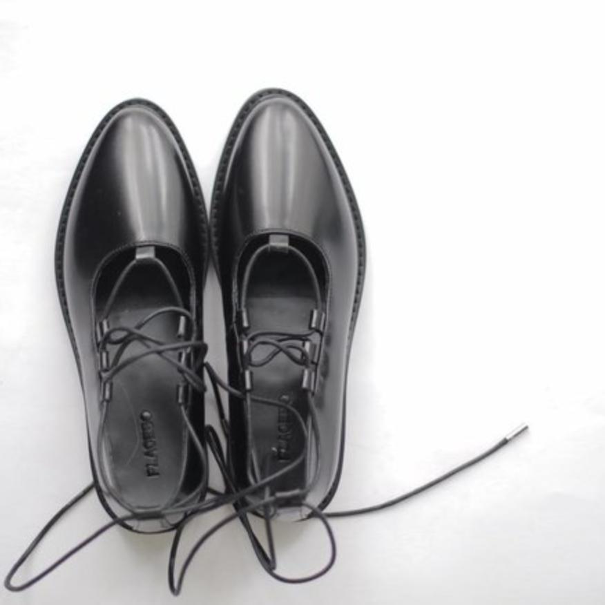 鞋子 過年 十年 過時 型格 皮鞋 Placebo store 黑色芭蕾舞鞋